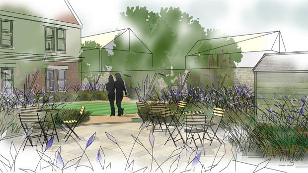 Horticultural therapy landscape design norfolk for Nursing home garden design