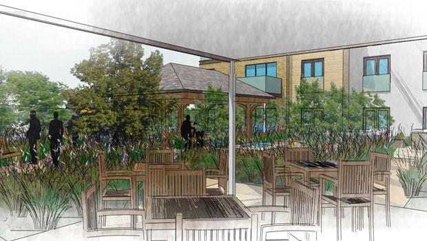 Residential Care home garden
